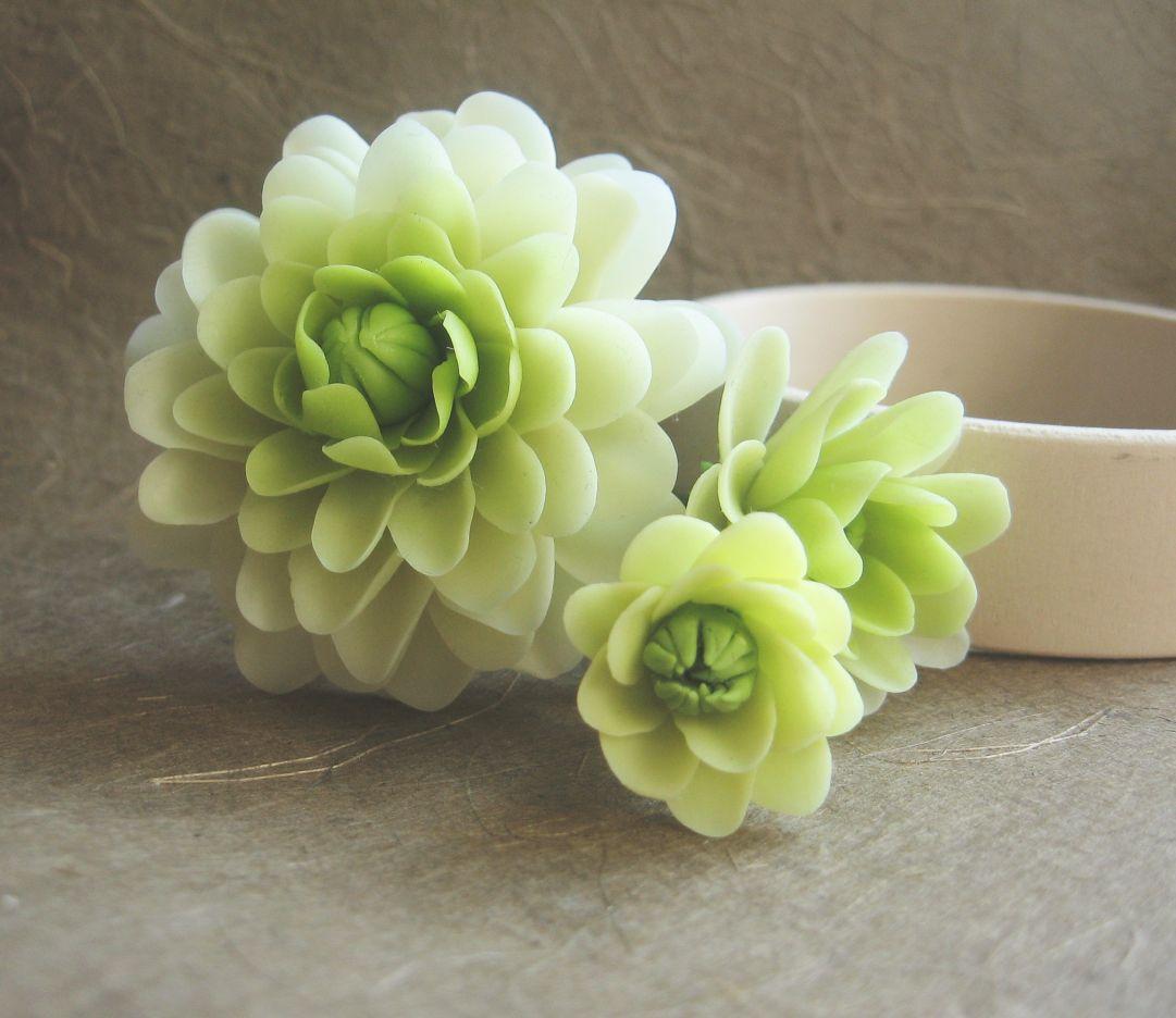 Хризантема из полимерной глины Fleur